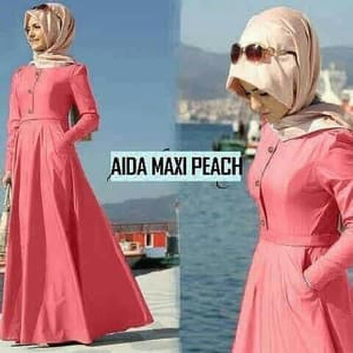 LF aida maxi (pink) / Baju wanita / gamis / baju atasan wanita /