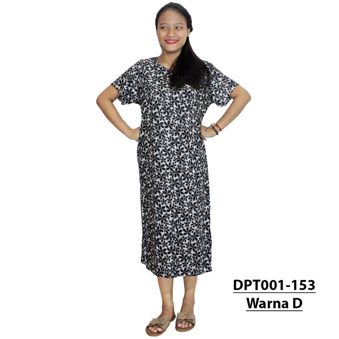 Daster Batik, Daster Lengan Pendek, Baju Tidur, Piyama, Kancing, Daster Bumil, Daster Busui (DPT001-153) Batik Alhadi