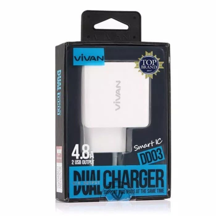 Vivan DD03 Double USB 4.8A Output Charger Original