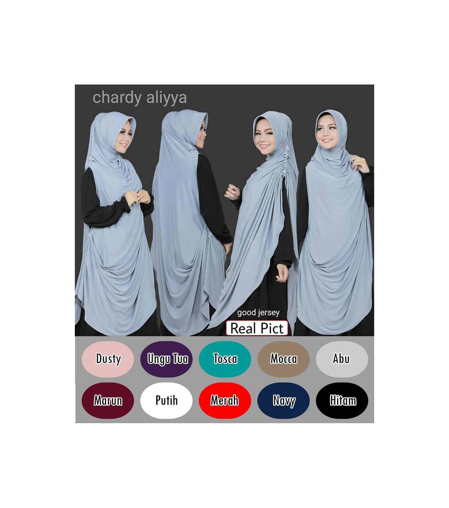 Jilbab Rabbani Hijab Syar i Khimar Chardy Cardi Aliyya HJ45