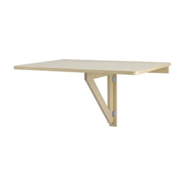 IKEA NORBO Daun meja lipat dipasang di dinding, Hemat Ruang, Kayu Birc