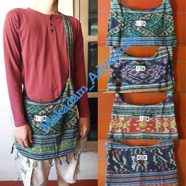 Tas Selempang Etnik Tenun Kain Rajut Lombok