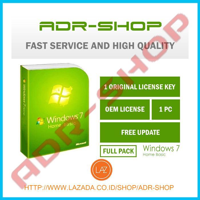 (Promo)Windows 7 Home Basic 32/64 bit OEM SP1 Lifetime fullpack ORIGINAL
