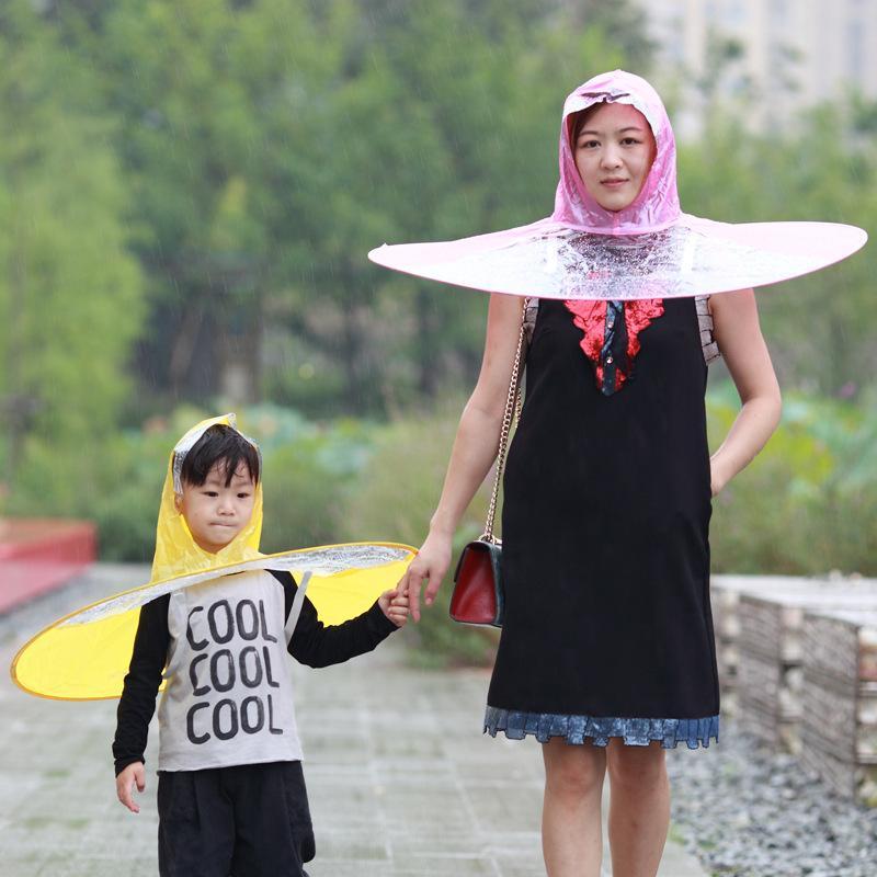 Topi Payung Jas Hujan / Raincoat Umbrella Hat / model jas hujan terbaru / jas hujan wanita terbaru / jas hujan anak terbaru / model jas hujan terbaru dan harganya / harga jas hujan terbaru 2018