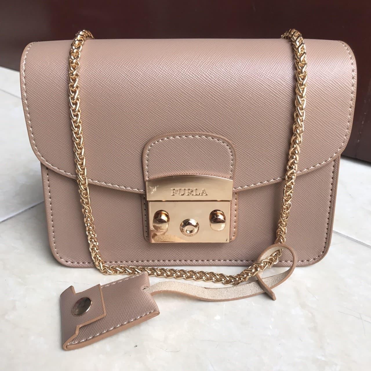 BEST SELLER Tas wanita cewe supplier branded murah import batam FURLA  METROPOLIS - Merah Muda 4fe615ddb4