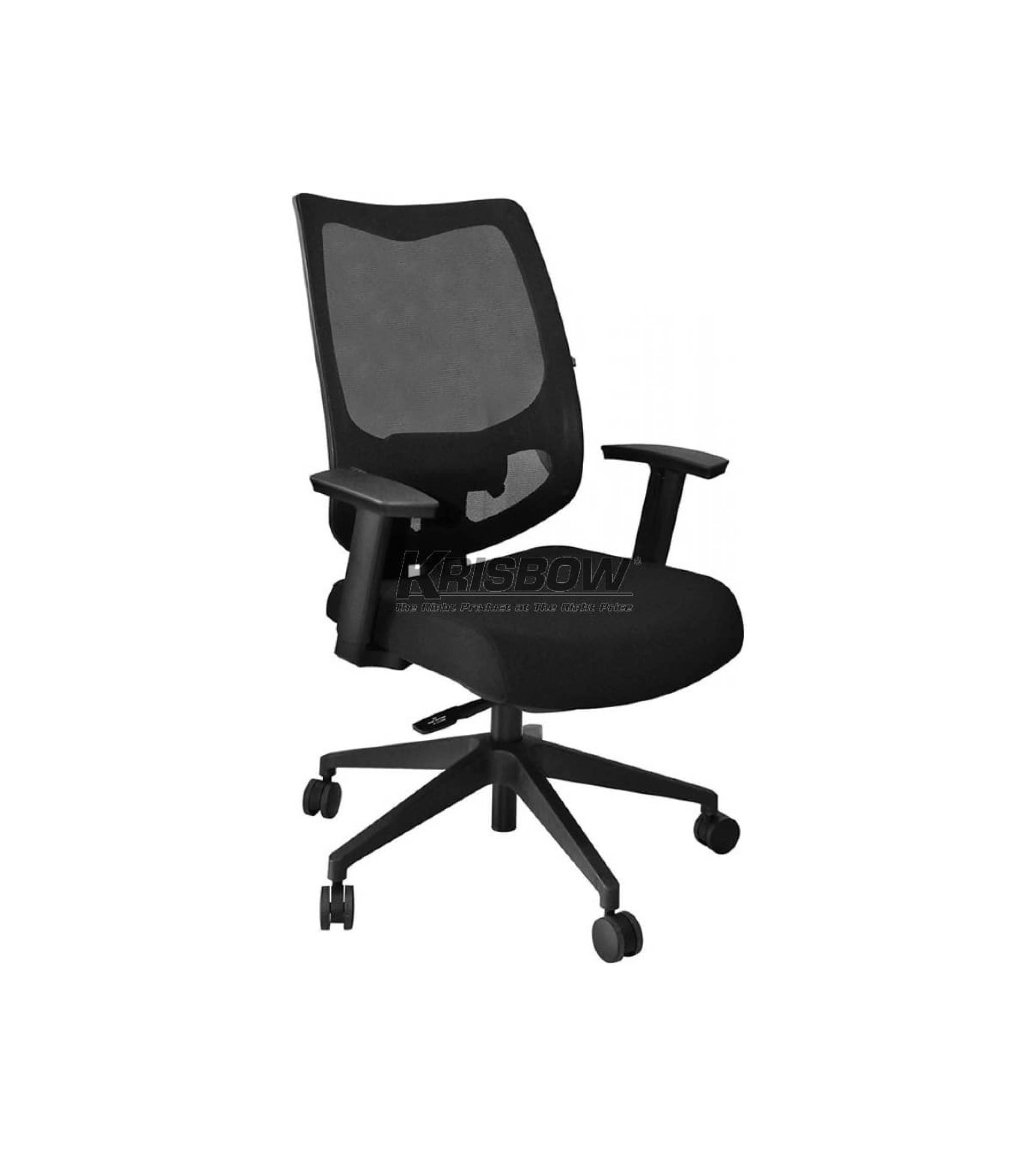 Ready ! Sauber Managerial Chair Black Low F Krisbow