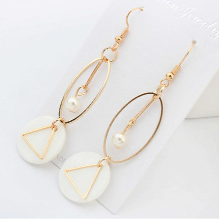 Anting Mutiara Geometric Long Earrings Geometric Jewelry Jan085