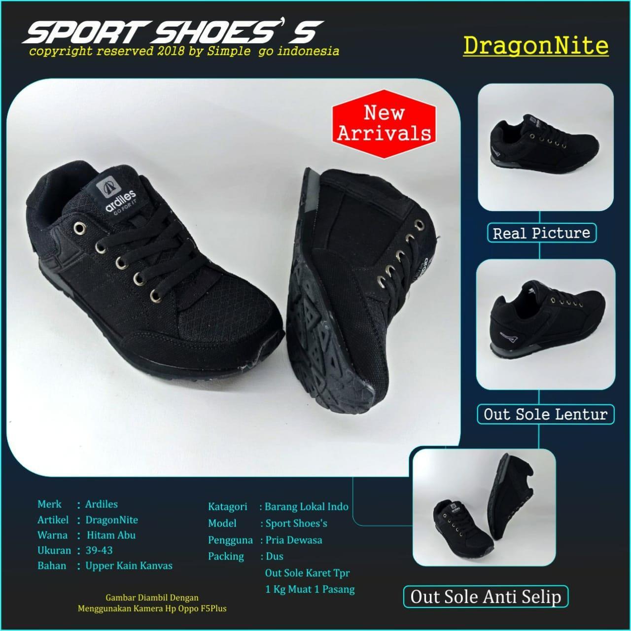 Jual Sepatu Sandal Ardiles Terbaik Men Alejandro Slip On Abu 41 Running Dragonite Pria Dewasa 39 43