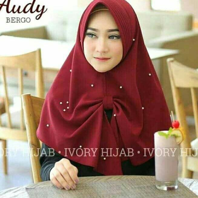 kerudung-jilbab  Hijab Kerudung Instan audy terbaru bahan matt bublecrep