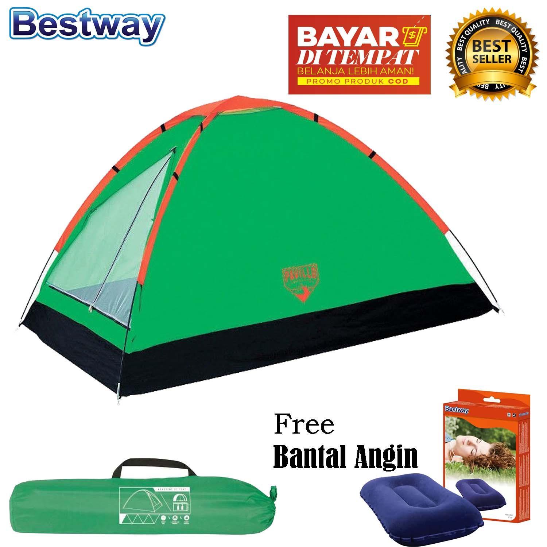 Tenda Camping Berkemah Kotak Tempat Sabun Kamar Mandi Portable Praktis Ada Tutup Hbh065 Bestway Monodome Pavillo X2 Tent 2 Orang Bantal
