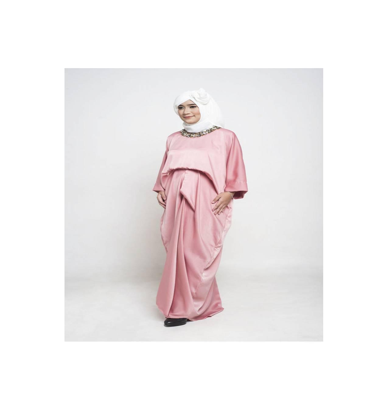 Jual Kaftan   Kaftan Menyusui   Nursing Kaftan Shanum Pink