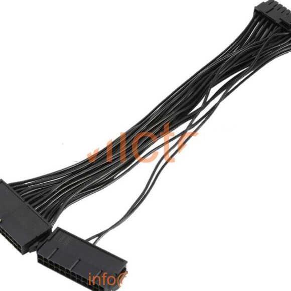 Dual PSU ATX Extension Cable 24 PIN to 20+4 PIN for Bitcoin Mining / Kabel Power Komputer Murah Terbaru