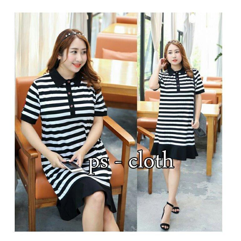 ... Ayako Fashion Dress Wanita Smile Jumbo Tosca Lazada Indonesia Source trendshopee Dress Wanita Bigsize Salur