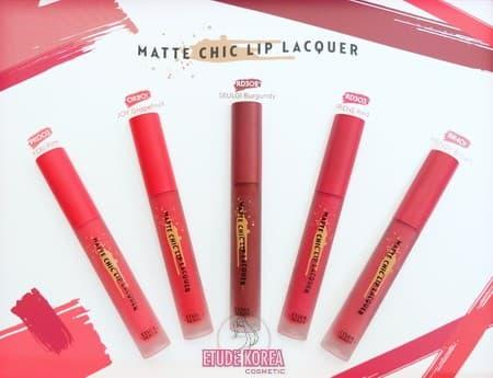 Etude House - Matte Chic Lip Lacquer Red Velvet