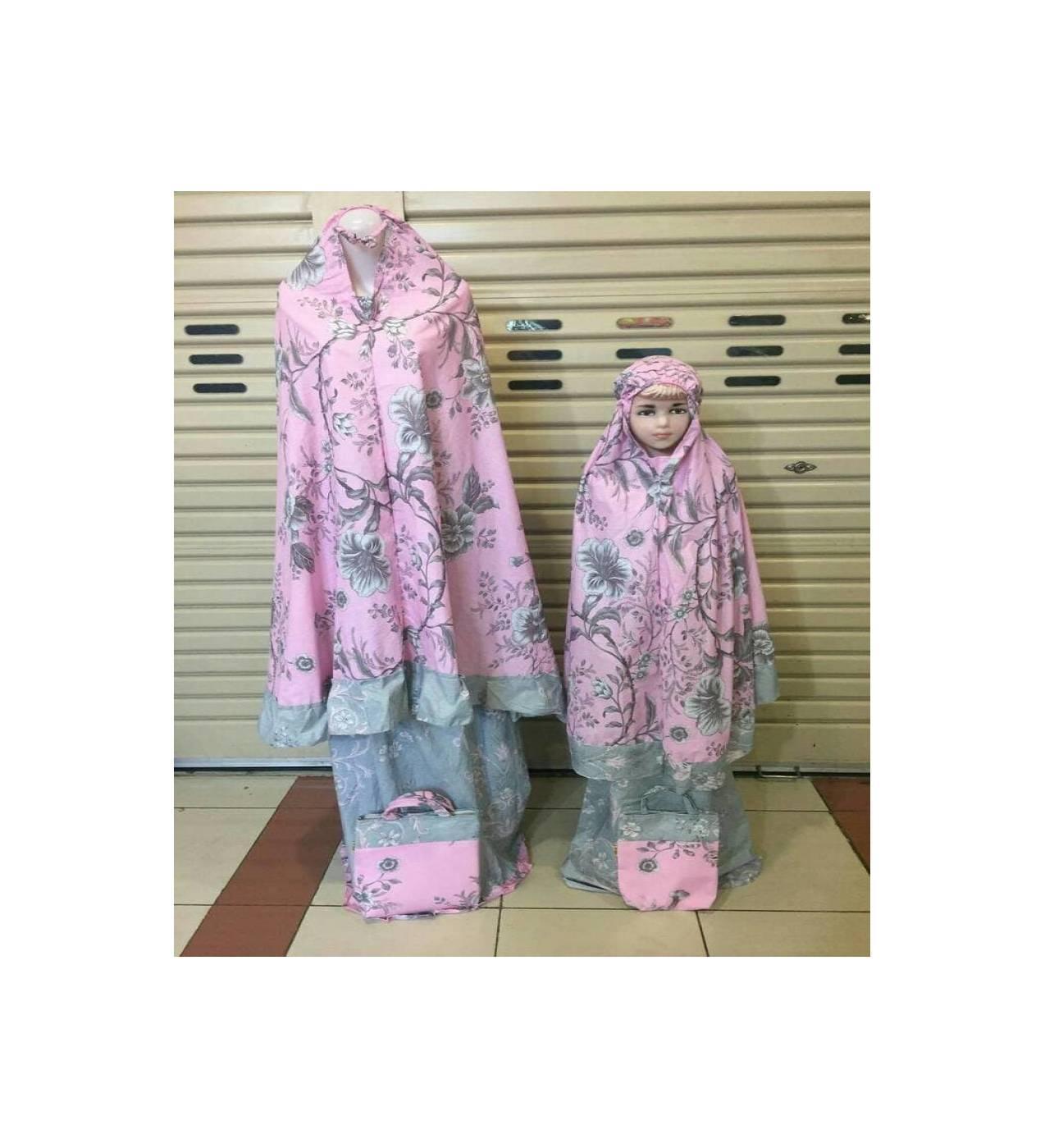 MUKENAH TERBARU mukena couple terbaru katun jepang flower pink