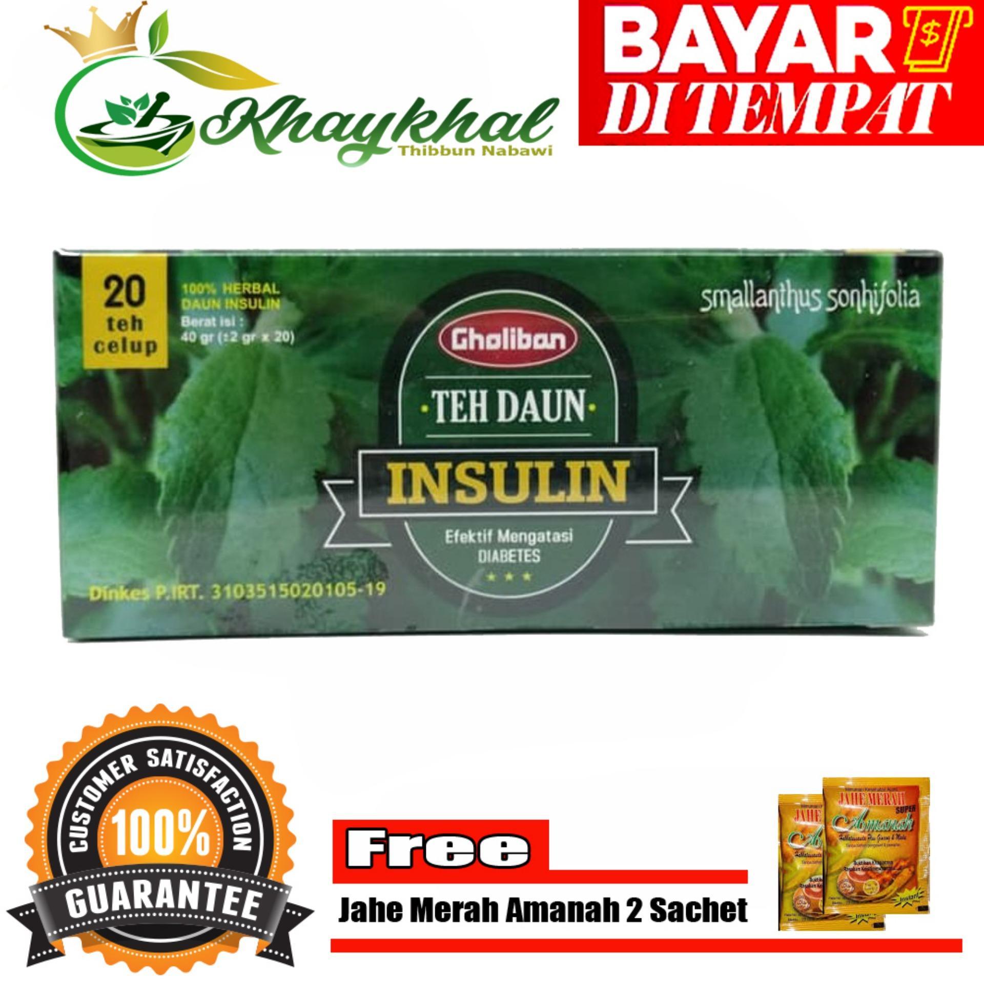 Herbal Teh Celup Daun Insulin Gholiban