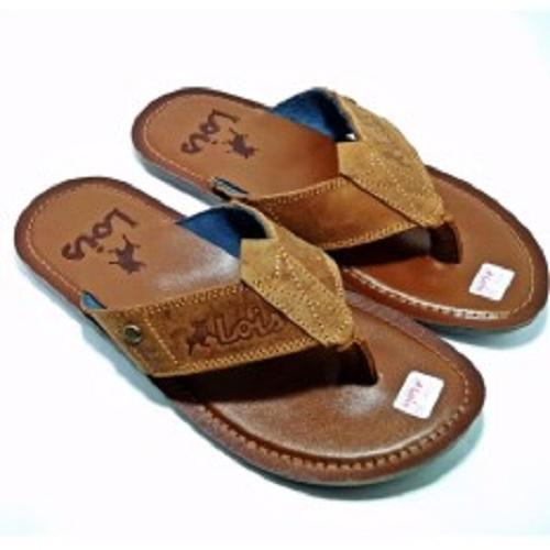 Hazel Al Zada - SANDAL KULIT PRIA / Fashion Sandal Kulit / Sandal Kulit Pria Japit Termurah - MOCCA