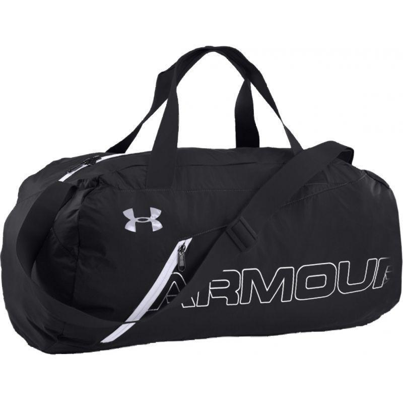 Under Armour original packable sport duffel tas olahraga lipat -  1256394-004 - hitam c626070f73