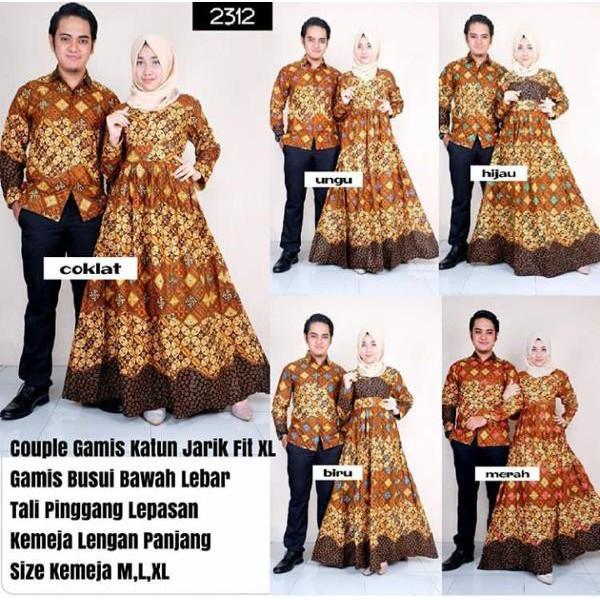 Promo Hari Ini Baju Muslim Kaftan Songket Couple Navy Black Untuk Lebaran