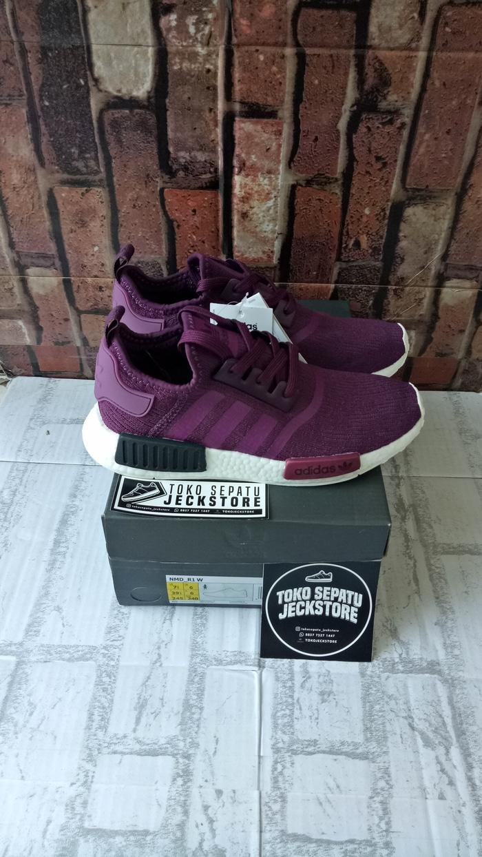 SEPATU ADIDAS NMD R1 JFK NIGHT PURPLE UNAUTHORIZED AUTHENTIC (UA)
