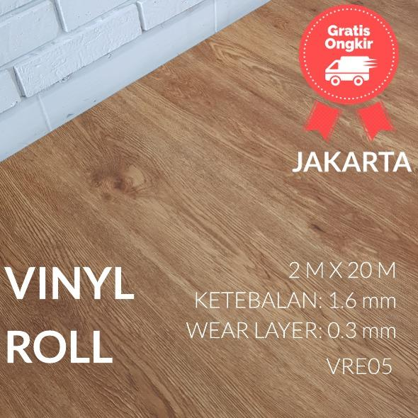 Varnesse Floor Lantai Vinyl Roll 1.6 Mm - Vre 05 By Varnesse Floor.