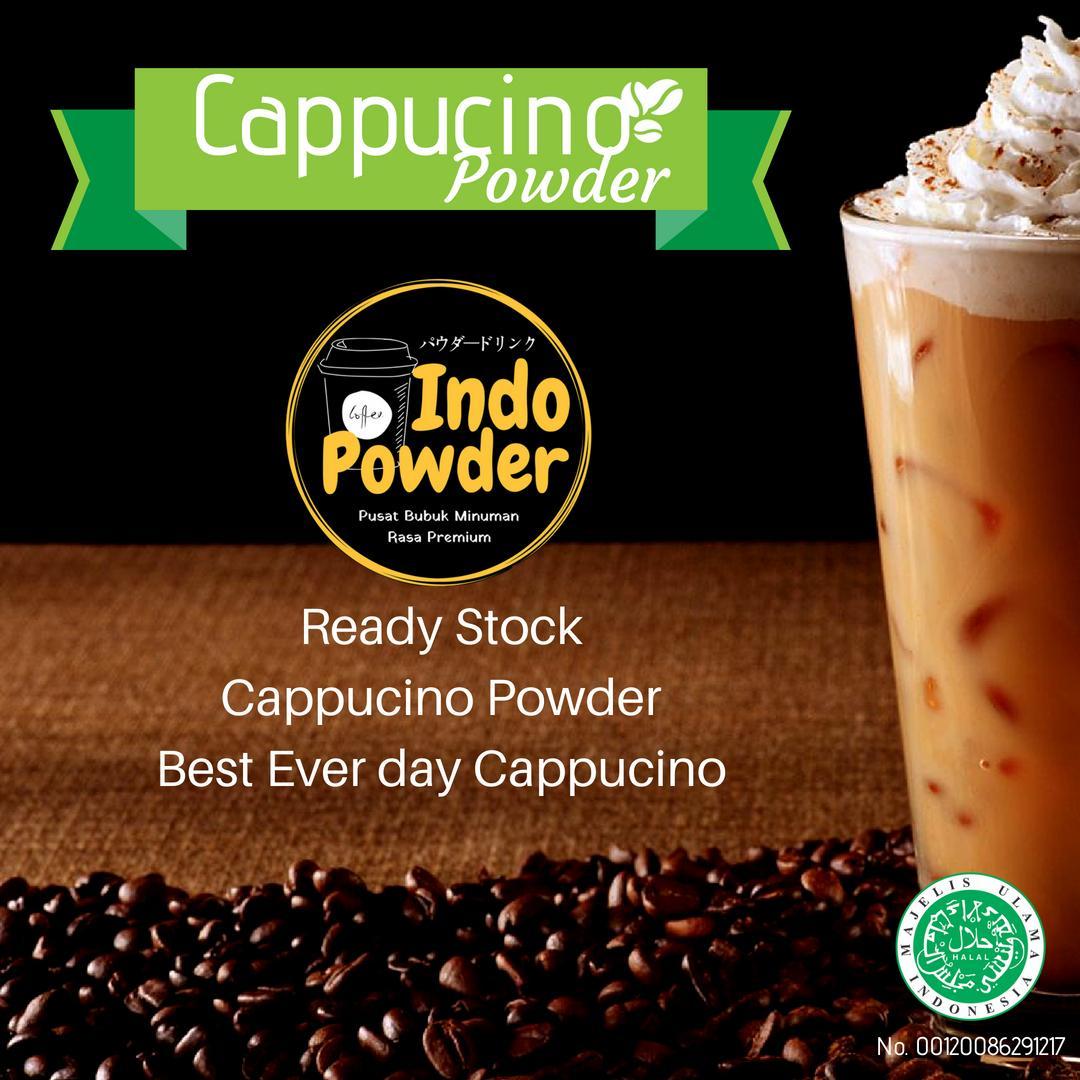 Bubuk Minuman Rasa Cappuccino 1 Kg / Bubuk Minuman Cappuccino 1 Kg / Cappuccino Powder 1 Kg / Bubuk Cappuccino 1 Kg By Indopowder.