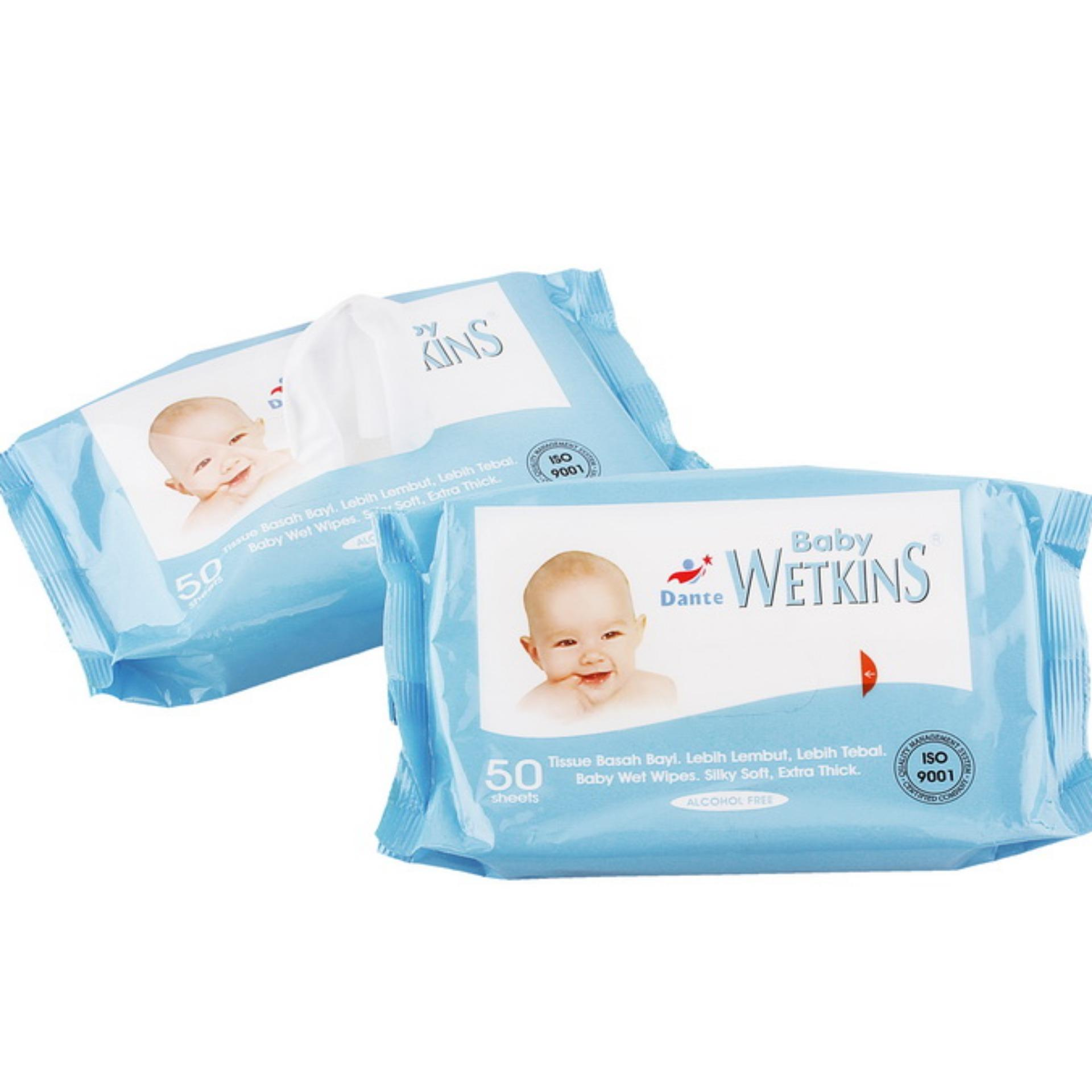 Buy Sell Cheapest Tissue Basah Best Quality Product Deals Cusson Tssue Wetkins Baby Wipes Blue 50s 1 Pack