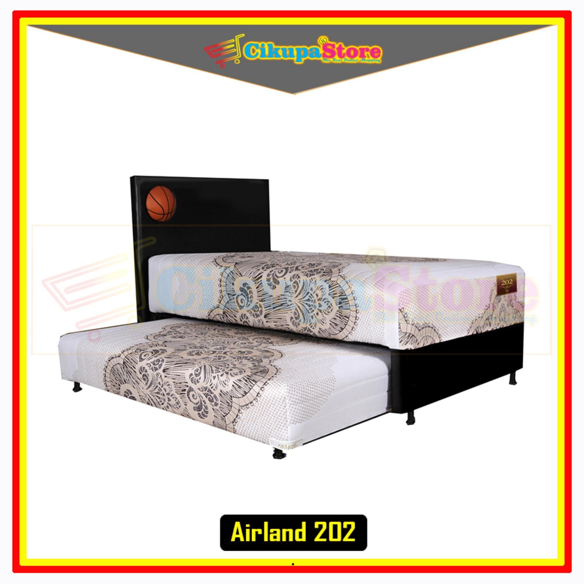FREE ONGKIR !! Kasur Spring Bed Matras 2in1 Airland 202 Deluxe - 90x200 Full Set