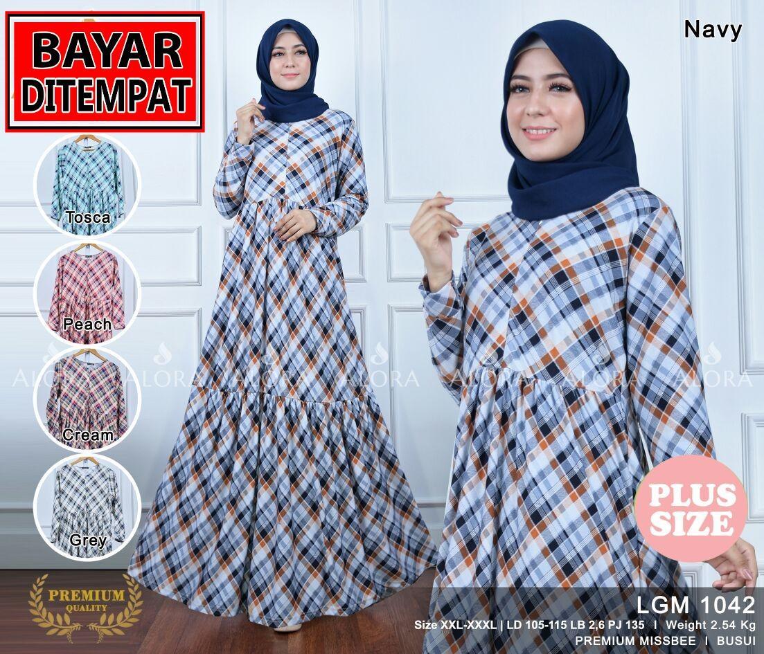RATU SHOPPING Gamis baju muslim wanita lgm1042 WOOLPEACH XXL XXXL