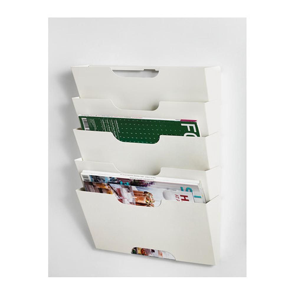 IKEA KVISSLE Wall Magazine Rack - Rak Majalah Koran - Putih
