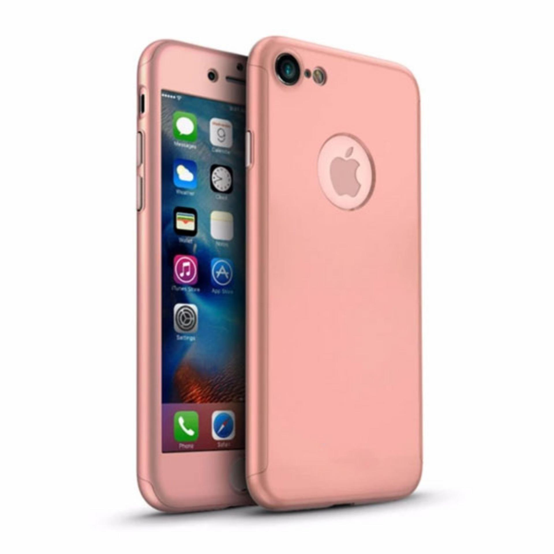 LOLLYPOP TPU 360 Case Apple iPhone 6 Plus / 6s Plus Rose Gold Emas Merah Muda Full Protection Cover Case Full Body Case Hp Casing Handphone