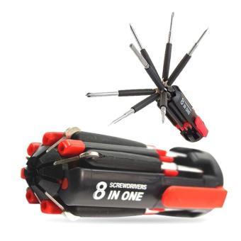 Beli sekarang Obeng 8In1 Set Led Lamp Lampu Senter Multifungsi Alat Pertukangan Tool terbaik murah - Hanya Rp18.220