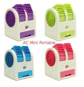 AC MINI DOUBLE AC DUDUK NEW GENERATION WITH DOUBLE FAN (MINI FAN AC)