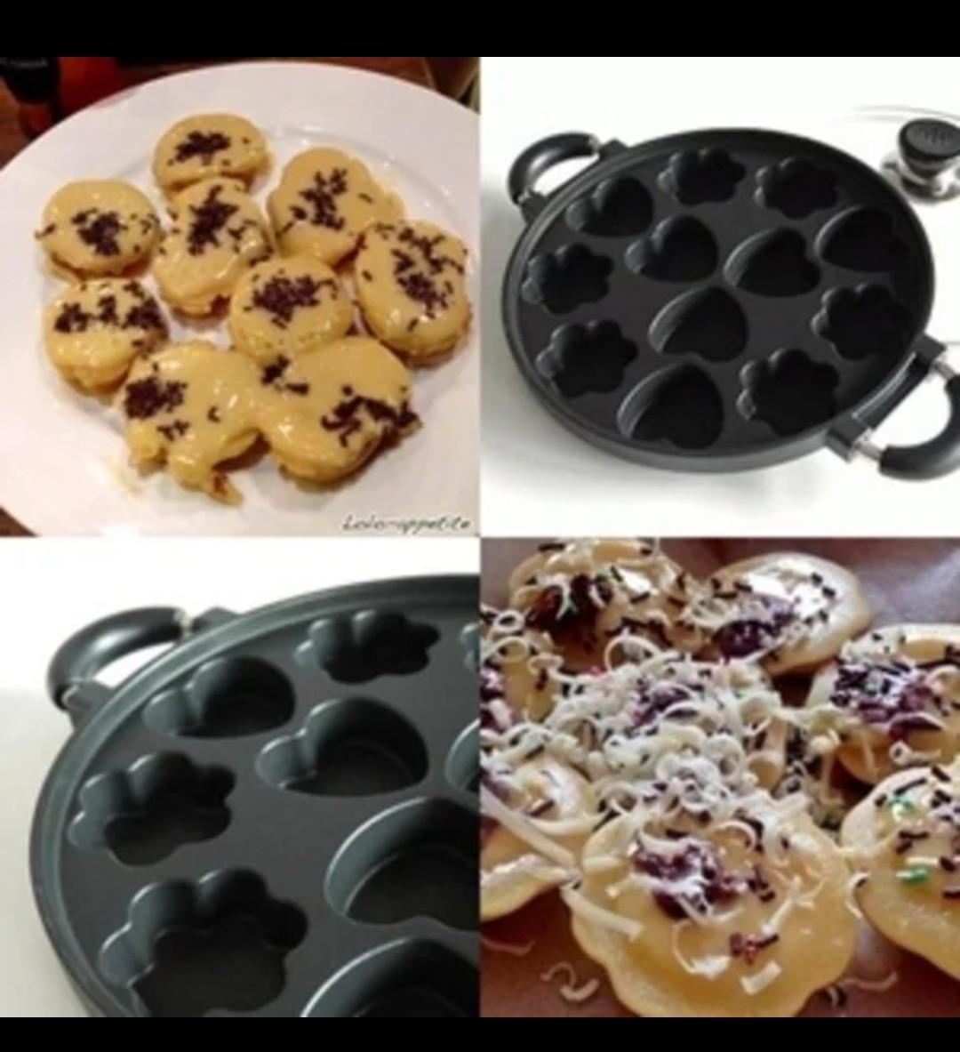 Cetakan kue cubit 12 variasi/wajan loyang apem snackmaker