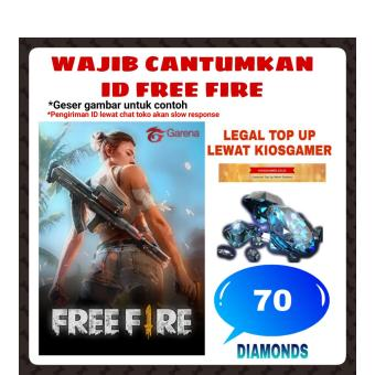 Harga baru TOP UP (TULIS ID) Garena Free Fire 70 Diamond