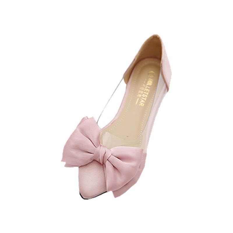 FS09 Mika satin Flatshoes pita wanita