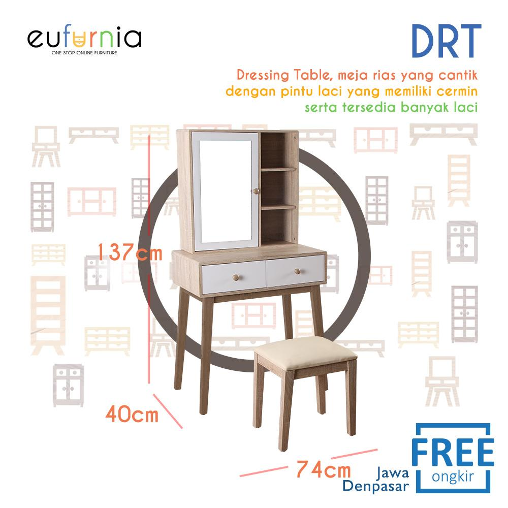 Eufurnia Olympic Curla Series Dressing Table - Meja Rias