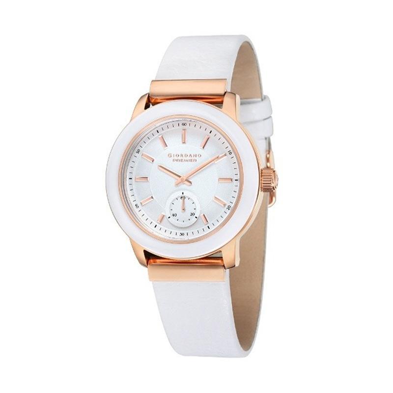 Giordano - Jam Tangan Wanita - Rosegold-Putih - Strap Putih - P262-04