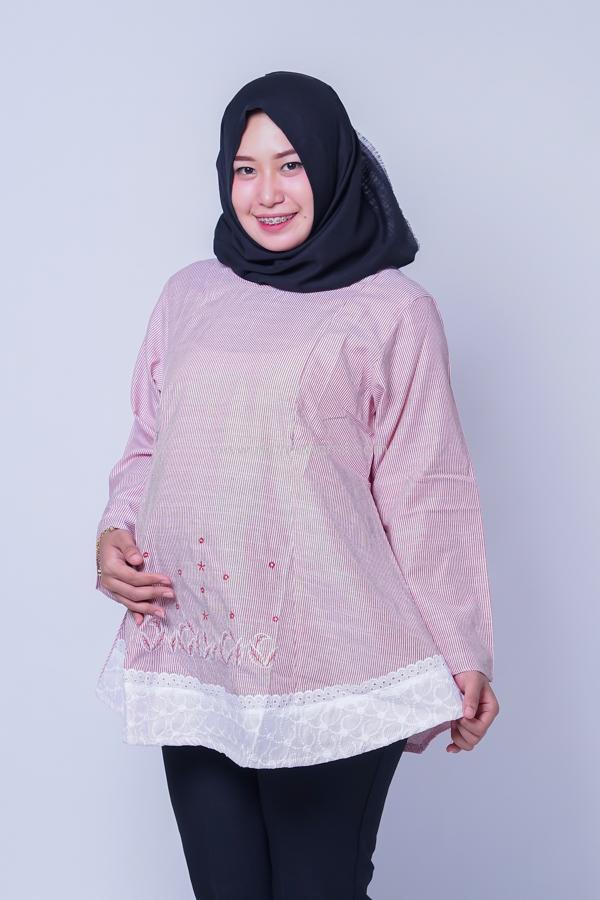 Blouse Hamil Menyusui Salur Muslim V / Baju Murah / Baju Modern / Dress Korea / Baju Kekinian / Baju Hamil Kerja / Baju Hamil dan Menyusui / Hamil / Kehamilan / Ibu Hamil / Harga Mumer / Terbaru.