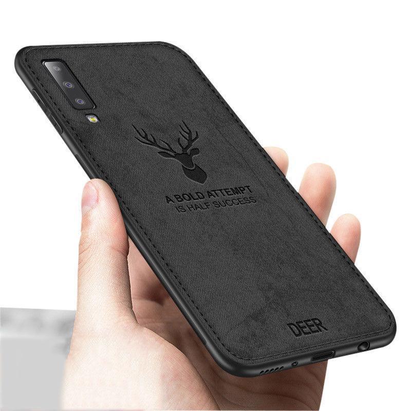 For Samsung Galaxy A7 2018 Hybrid Soft Fabric Slim Matte Case Cover Casing