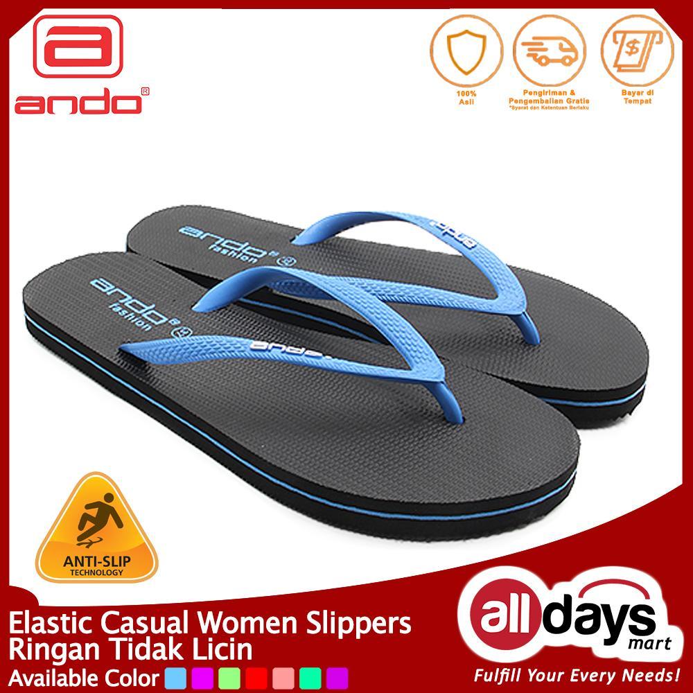 Ando Sandal Jepit Wanita Nice Like - Biru Size 36-40
