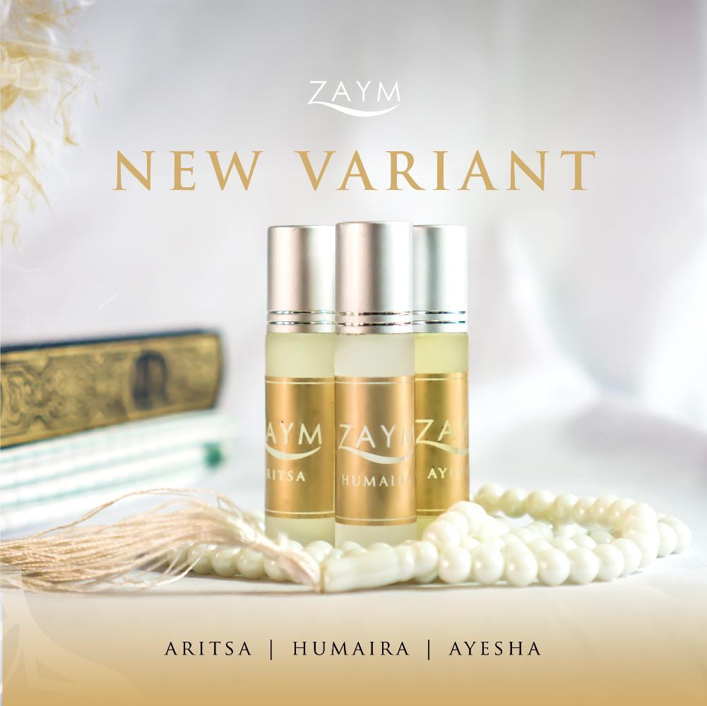 Parfum Non Alkohol Zaym Original - SERIE GOLD - NEW VARIAN - Parfum Sholat (Isi 3 Varian : Aritsa, Humaira, Ayesha) - Minyak Wangi Non Alkohol