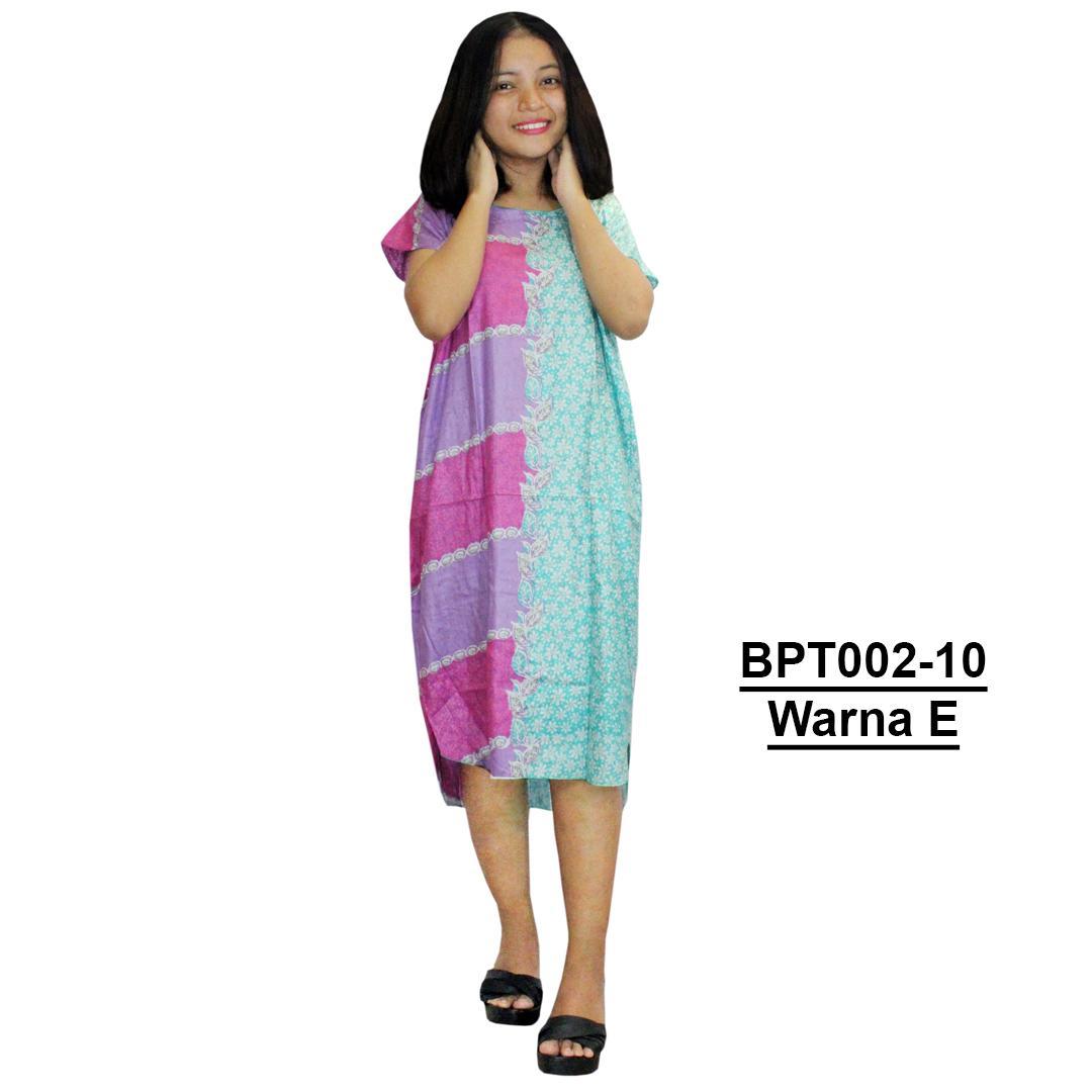 Midi, Daster Midi, Dress Santai, Baju Tidur, Piyama, Atasan Batik (BPT002-10) Batikalhadi Online