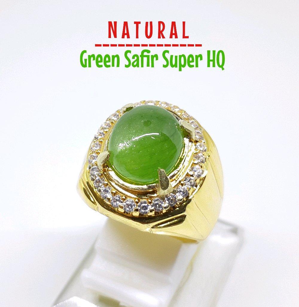 PROMO SUPER HQ GAN CINCIN NATURAL GREEN SAFIR YANG SANGAT LANGKA SUPER ISTIMEWA GAK PASARAN EUY RIN