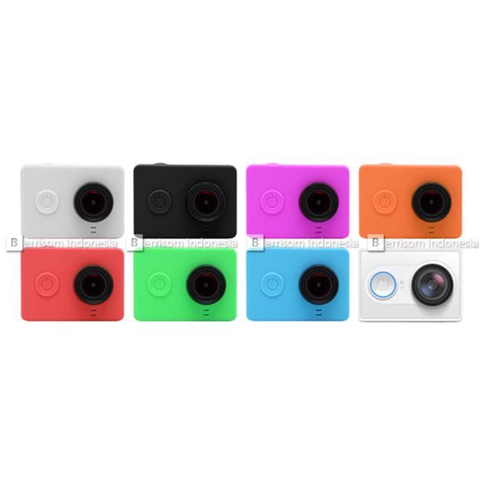Silicone Case And Lens Cap Xiaomi Yi Camera