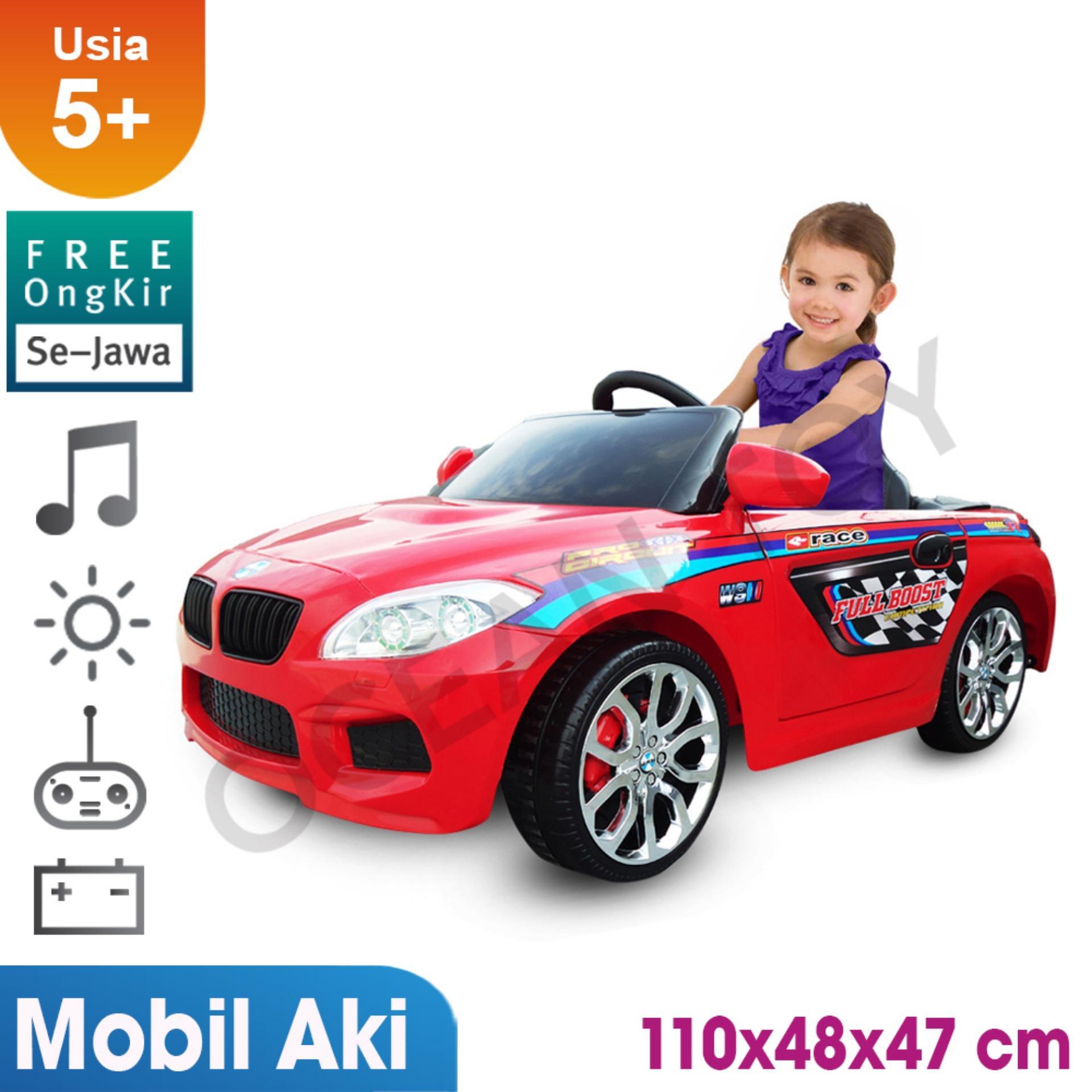 100% Free Ongkir Khusus Pulau Jawa Ocean Toy Ride On PMB Mobil Aki M9188 Beem Racer Mainan Anak - Merah