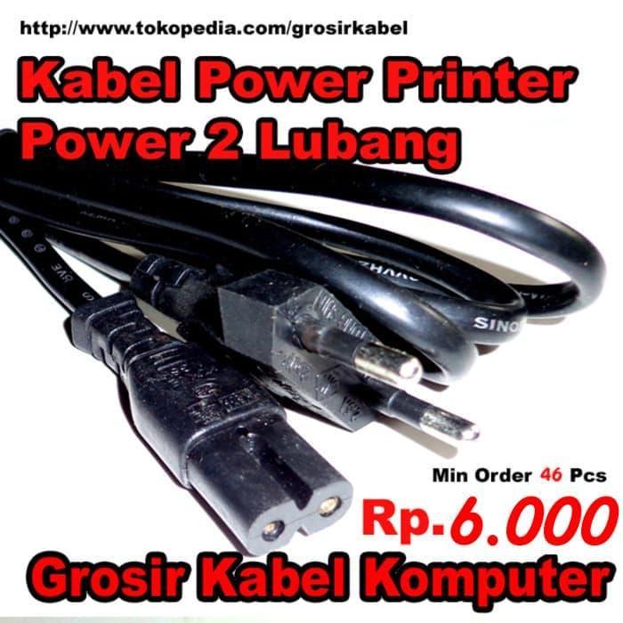 SALE - Kabel Power Printer 2 Lubang Original