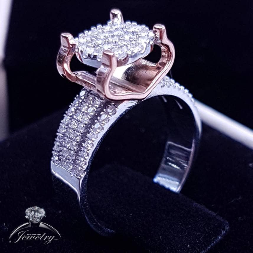 TERMURAH Cincin Wanita Emas Berlian Asli Natural Diamond Nikah Kawin.