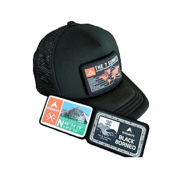 HARGA PROMO!!! topi eiger 910003731 001/002 tactical field cap black - free 3 logo
