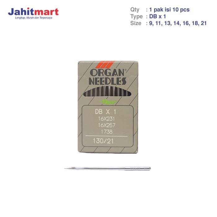 ORIGINAL JEPANG JARUM ORGAN / JARUM MESIN JAHIT INDUSTRI TYPE DB X 1